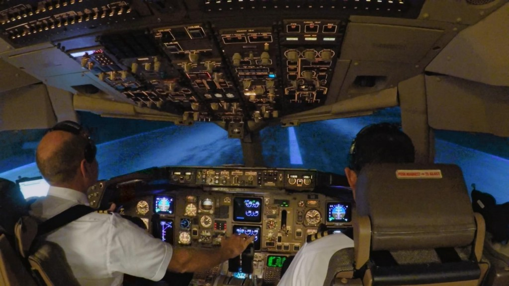 Cockpit at Take Off